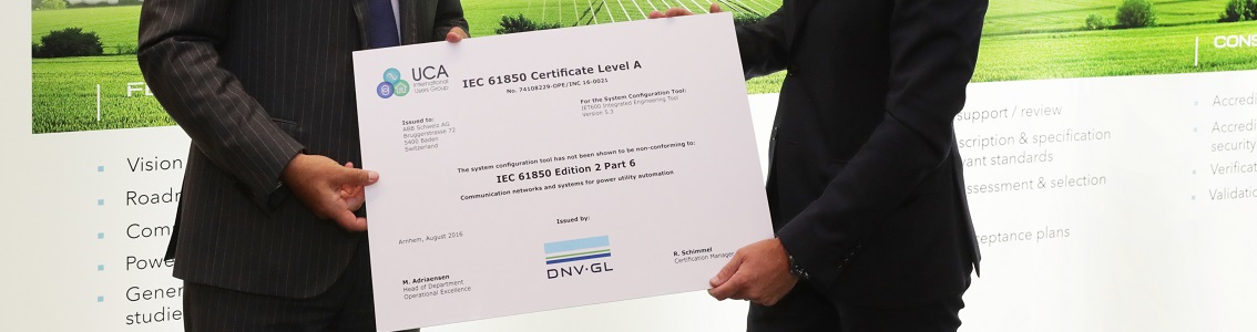 IEC 61850 certificate for ABB