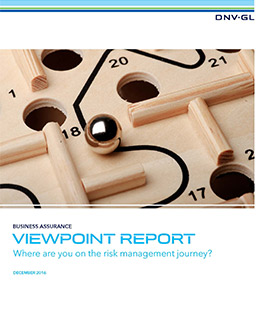ViewPoint report- Where are you on the risk management journey - report cover